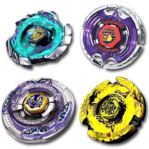 Beyblade Combo 4 Pack Hell Hades Kerbecs 4D + Blitz Unicorno