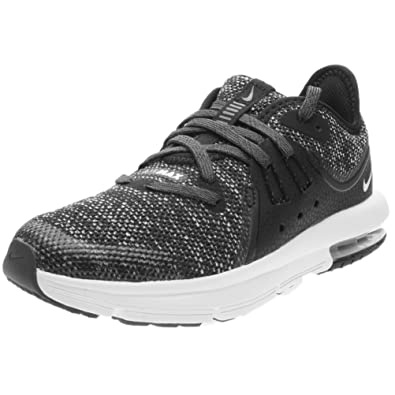 1f50ff58e25a31 Nike Kids  Preschool Air Max Sequent 3 Running Shoes (1-M) Black