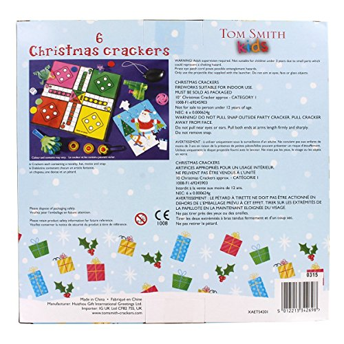 fun kids christmas crackers 6 pack amazoncom grocery gourmet food