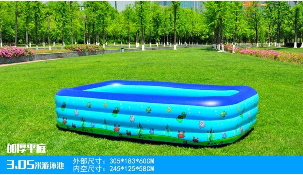 Treslin Piscina Infantil Inflable para Adultos, Piscina Infantil para niños, Piscinas Grandes de plástico para niños, tamaño Grande, 3C 305x183x60