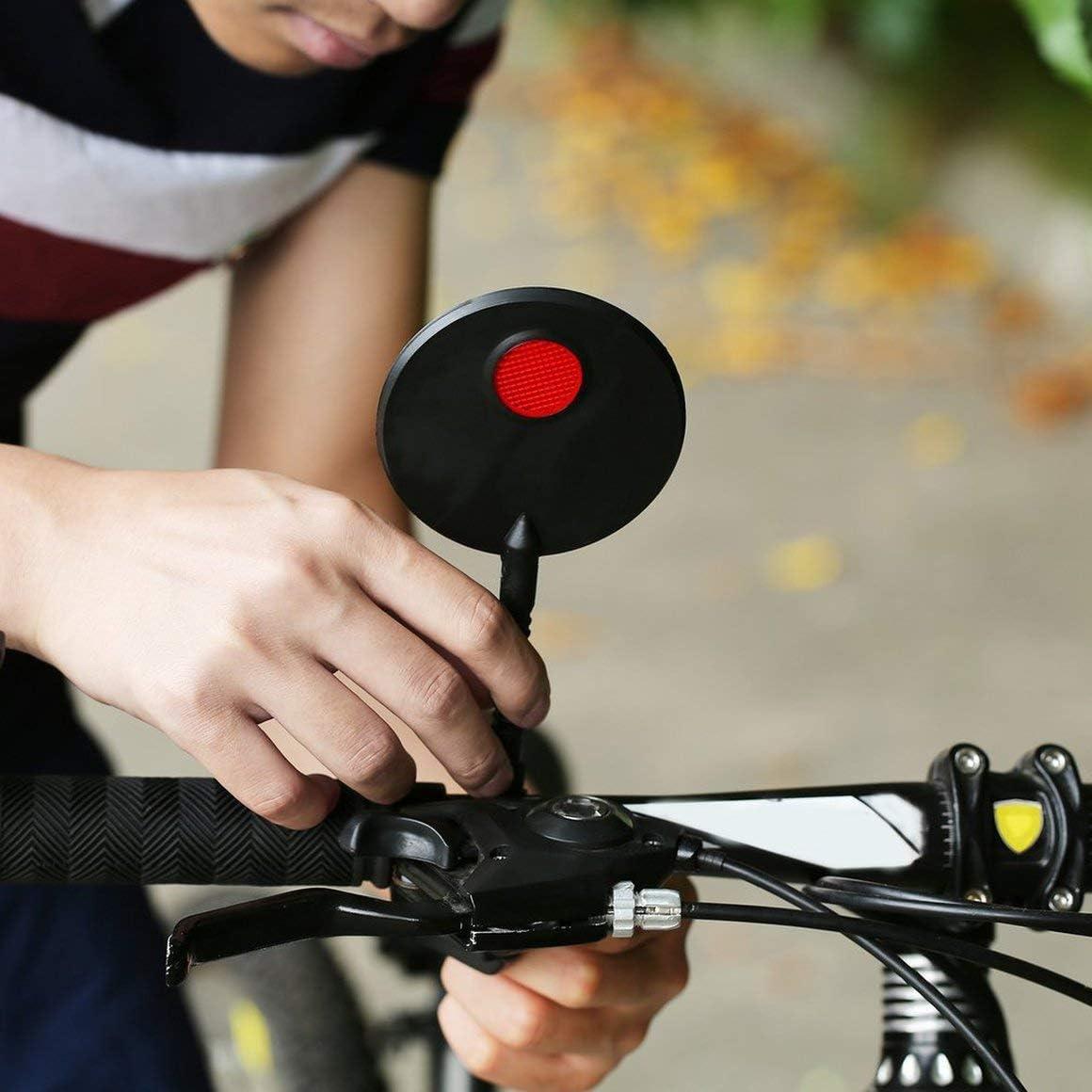 Funnyrunstore Universal Bike Espejo Bicicleta Manillar Flexible Retrovisor Posterior Espejo Retrovisor Ajustable para Ciclismo MTB Espejo