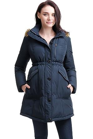 7f953f461f52 Momo Maternity Women s Nori Hooded Down Parka Coat at Amazon Women s ...
