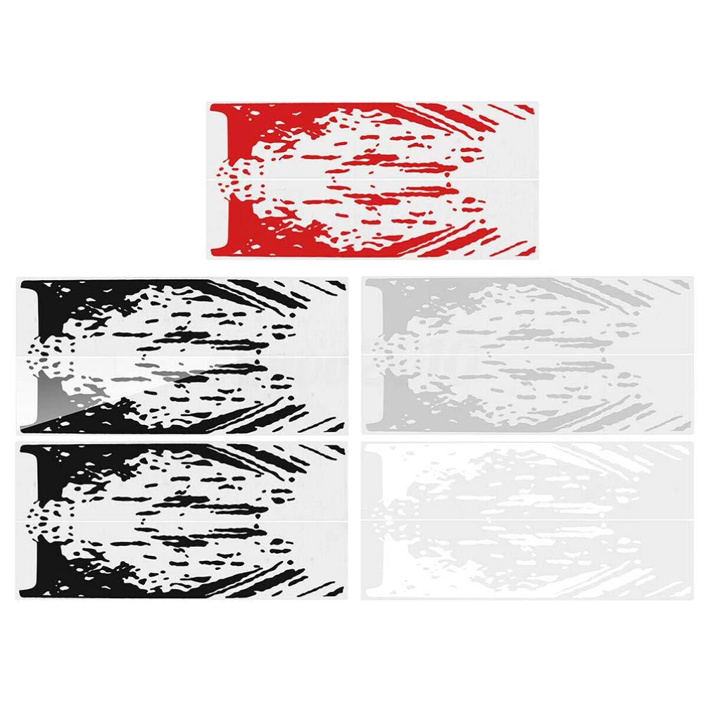 Luixxuer Vehicle Side Bed Decals Kit Mud Splash Sticker Vinyl For Ford Raptor SVT F-150 2009-2018 5 Colors