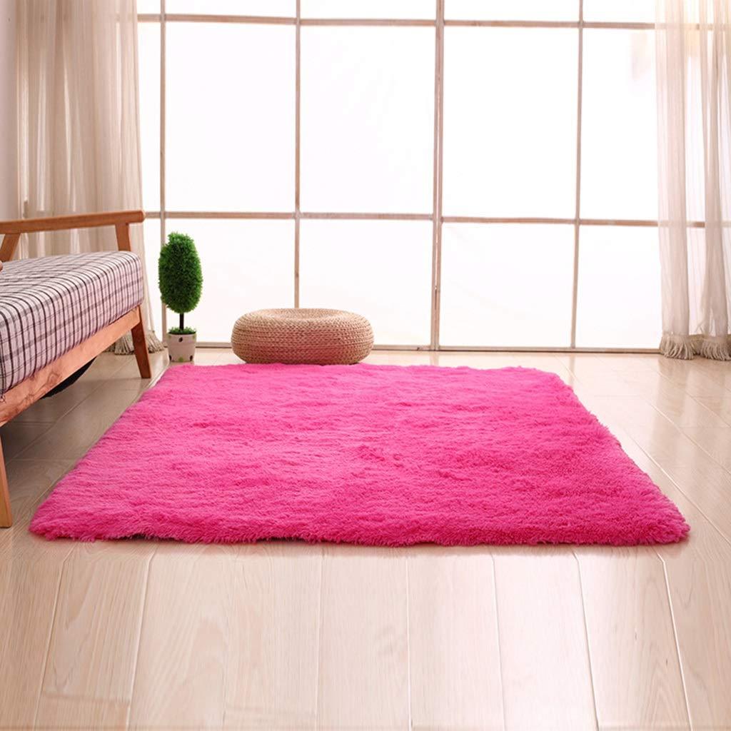 PLY HOME Bathroom Kitchen Living Bedroom Carpet Tiles,Simple Modern Silk Hair Living Room Bedroom Bedside Mat Non-Slip Carpet Rectangular Coffee Table Carpet (Color : I, Size : 40604.5cm)