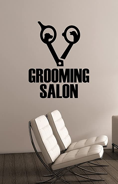 Pet Grooming Logo Vinyl Window Sticker Wall Decal Art Decorations