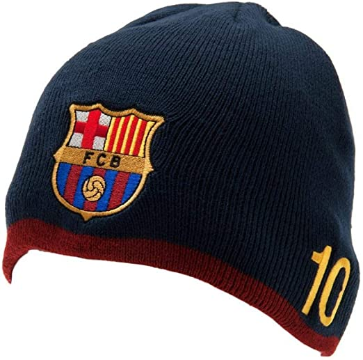 FC Barcelona Knitted Hat Beanie Burgundy Official Licensed Product