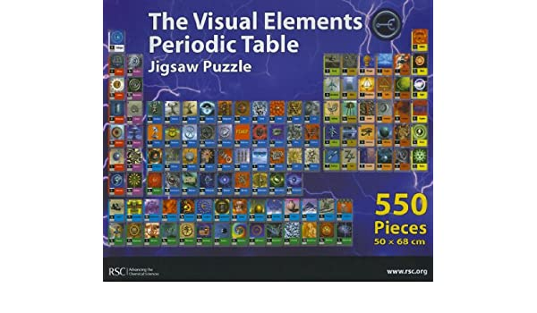 The visual elements periodic table jigsaw puzzle periodic visual elements jigsaw rsc murray robertson 9780854048434 urtaz Images