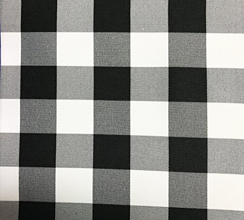 GFCC 60x102-Inch Rectangular Polyester Tablecloth Checker,Black and White by GFCC