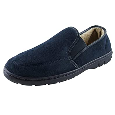 3d472985d30 Mens Faux Suede Luxury Classic Slippers Gents Quality Slipper Sizes UK 7   Amazon.co.uk  Shoes   Bags