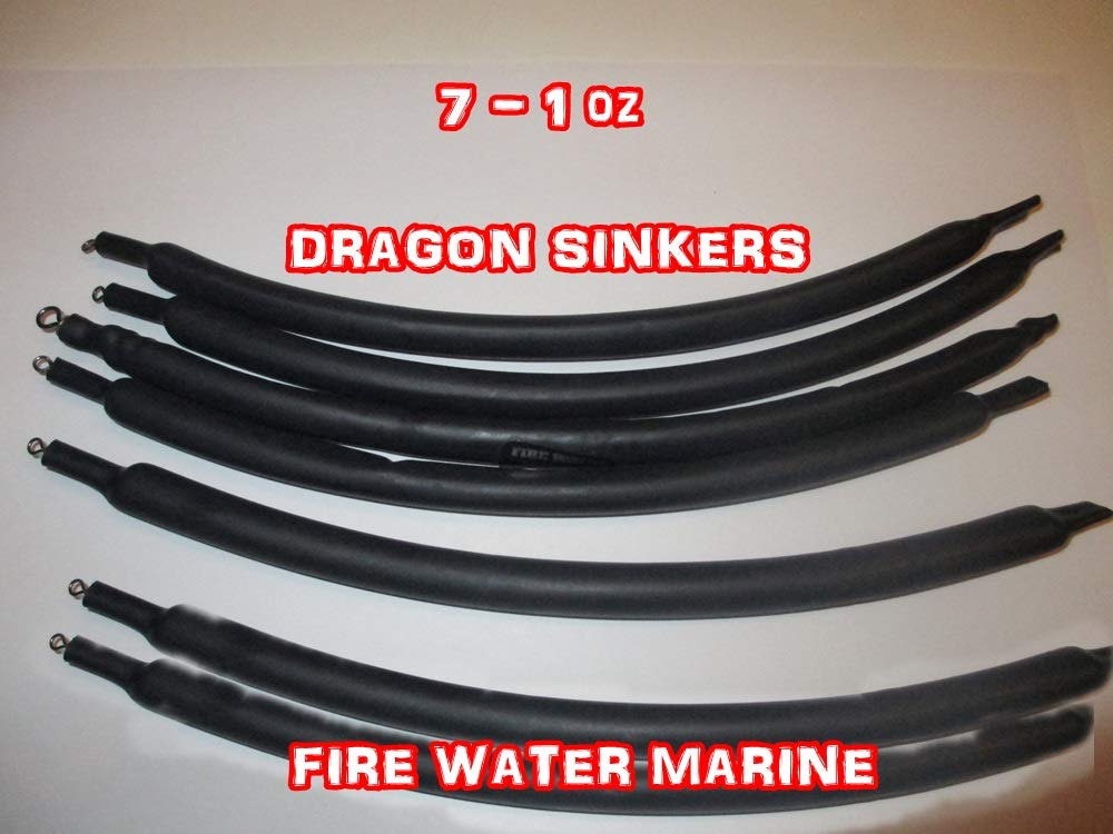 Firewatermarine DRAGGING Drift SINKERS Flexible SNAGLESS Catfish Bottom Bouncing 1oz 2oz 4oz (1)