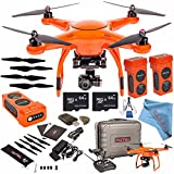 Autel Robotics X-Star Premium Quadcopter with 4K Camera and 3-Axis Gimbal (Orange) + Autel Robotics Propeller Set (Black) + Autel Robotics 4900 mAh LiPo Flight Battery (Orange) + 64GB SDXC Bundle