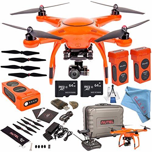 Autel Robotics X-Star Premium Quadcopter with 4K Camera and 3-Axis Gimbal (Orange) + Autel Robotics Propeller Set (Black) + Autel Robotics 4900 mAh LiPo Flight Battery (Orange) + 64GB SDXC Bundle by Autel Robotics