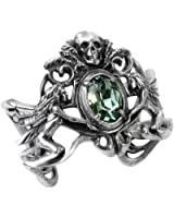Costume Accessories Gothic Bracelet Essence of the Green Fairy Absinthe Skull Faced Bangle of Gothic Ballroom