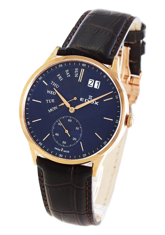 エドックス レボベール レトログラード 腕時計 メンズ EDOX 34500-37R-BUIR[並行輸入品] B07FQ9RGRW