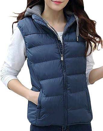 vestibilit/à Comoda Huixin Gilet Unisex con Collo A Tuttoterreno Invernale con Outdoor Cappuccio Caldo E Collo Alto