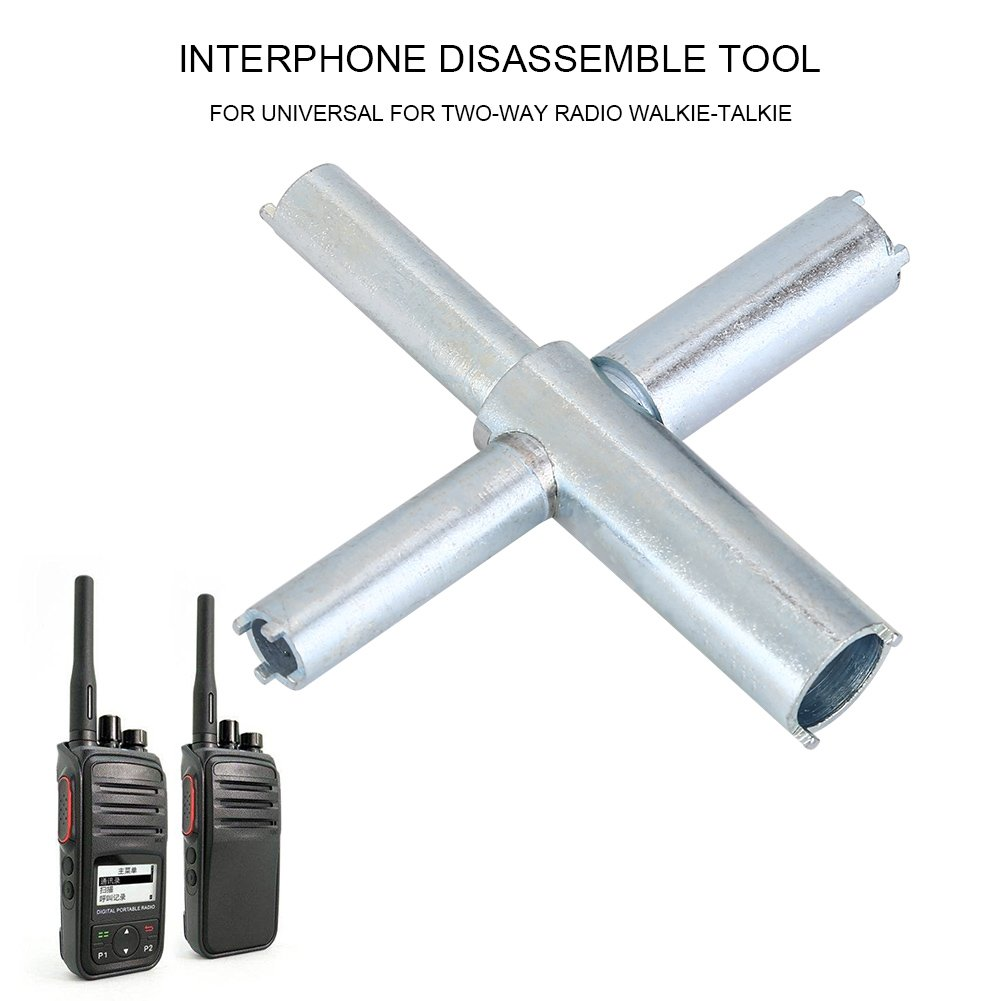 Zerone Stainless Steel X-Key Repair Tool Destuffing Disassembling Tool Removable Kit Cross Wrench For Two-Way Radio Walkie Talkie