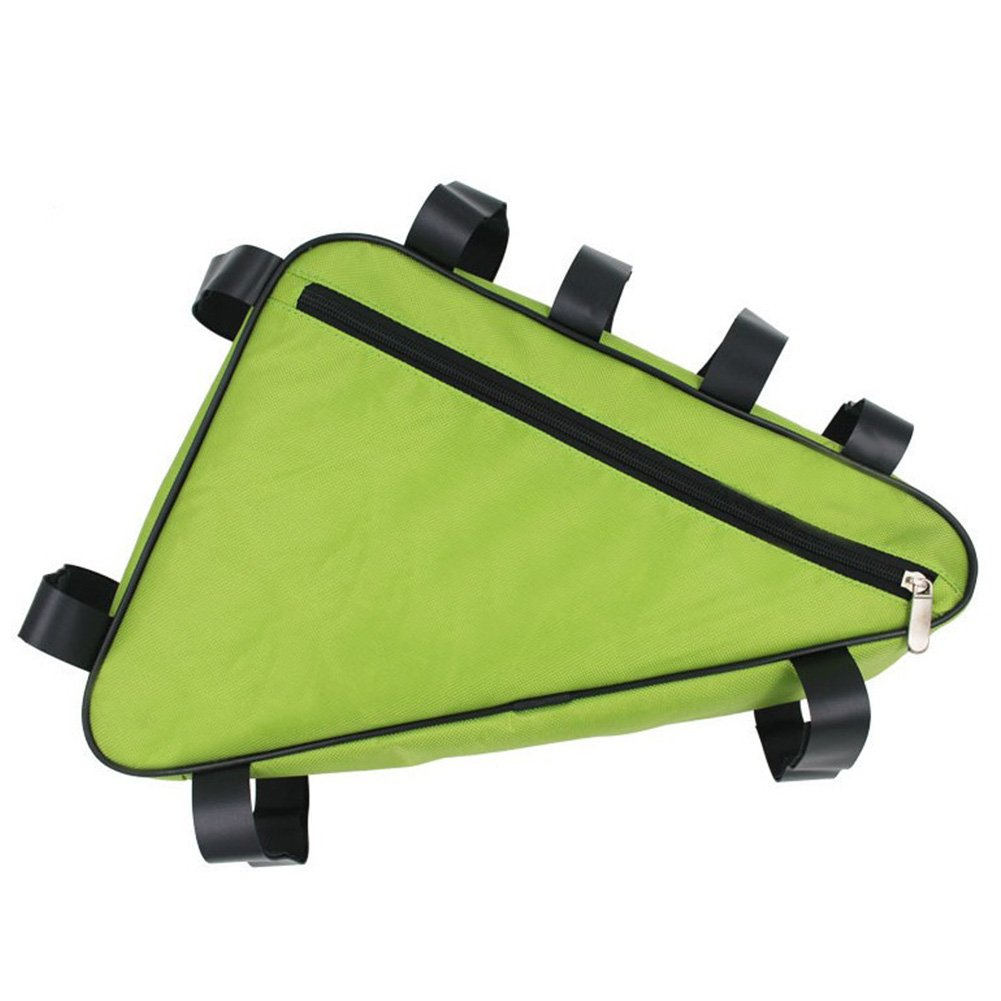 EDTara 三角形フレームバッグ 自転車 自転車 自転車 防水 オックスフォード 取り付け簡単 取り外し  Fruit Green Triangle Carrier Bag B075CMLLYC