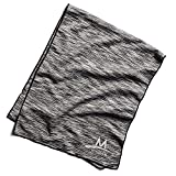 Mission Enduracool Techknit Cooling Towel, Black Space Dye, Large