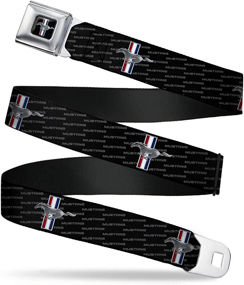 Ford Mustang w//Bars REPEAT w//Text 20-36 Inches in Length 1.0 Wide Buckle-Down Seatbelt Belt