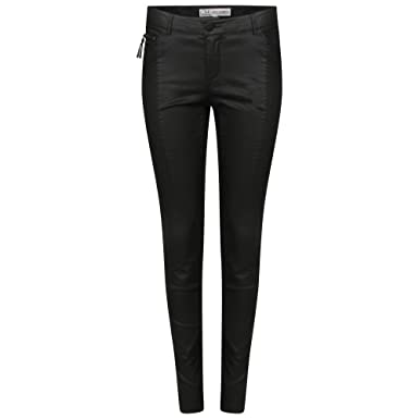 Ladies 5-Pocket Coated Super Skinny Black Womens Jeans: Amazon.co ...