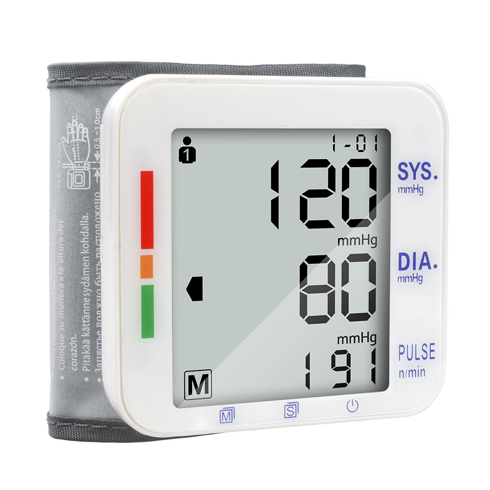 Elera Digital Automatic Blood Pressure Monitor& Meter Sphgmomanometer (Wrist)