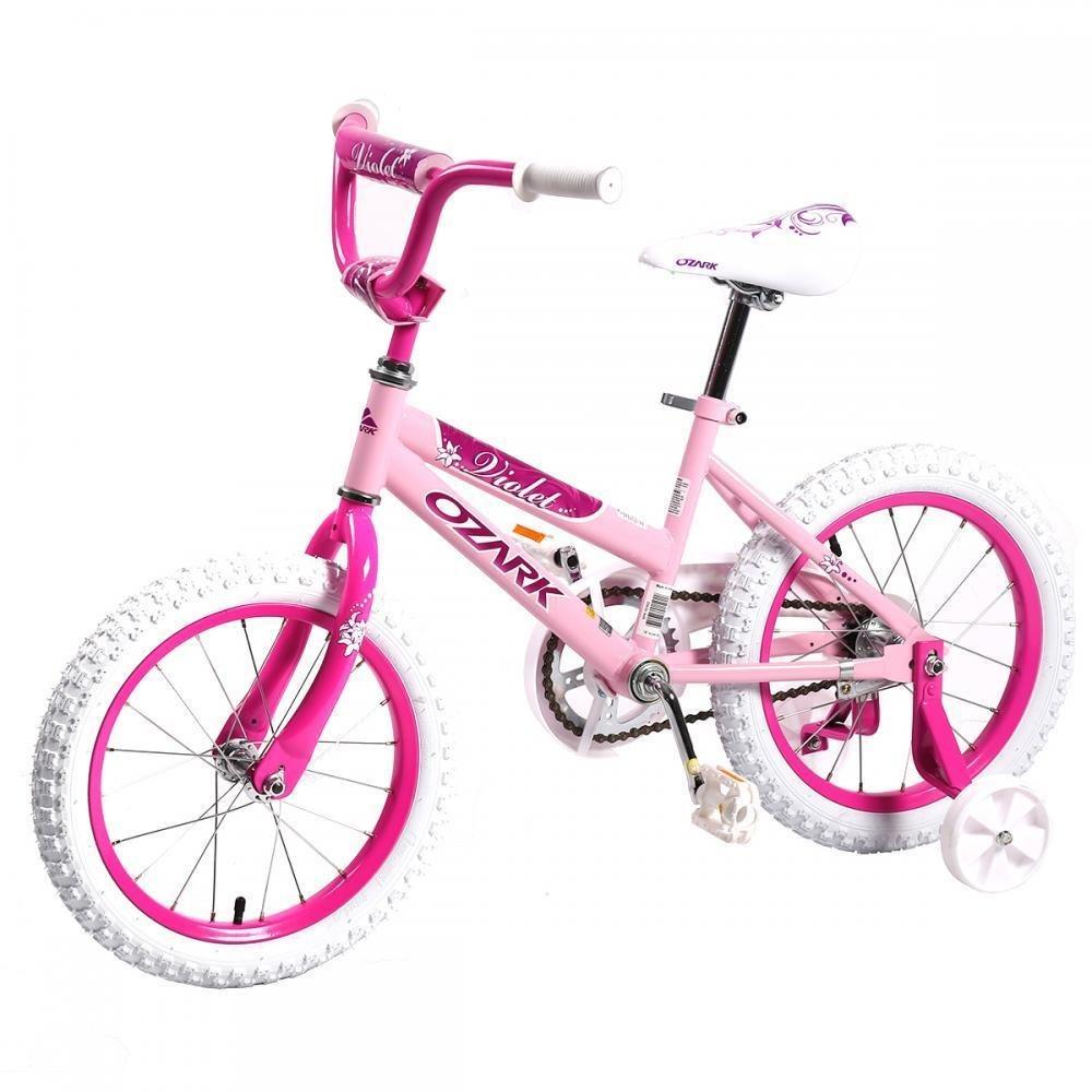 16'' Steel Frame Children BMX Girls Kids Bike Bicycle With Training Wheels