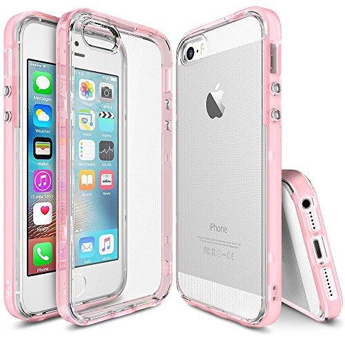 Funda iPhone SE / 5S / 5 - Ringke FRAME** doble-capa reforzada de TPU de parachoques superior ** [Frost Pink] pegatina de...