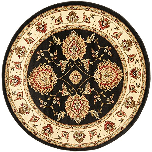 Safavieh Lyndhurst Collection LNH555-9012 Traditional Oriental Black and Ivory Round Area Rug (5'3