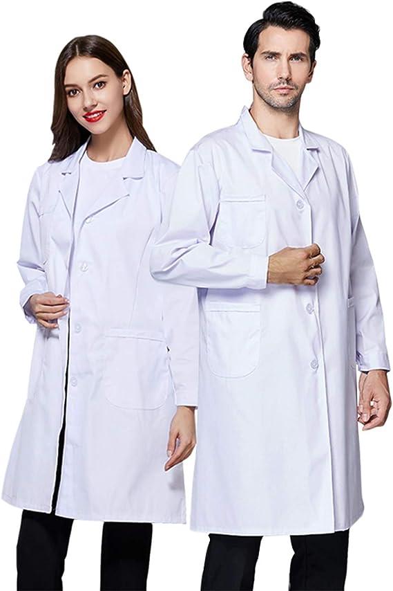 Eposeedor Bata Blanca Laboratorio para Hombre y Mujer, Bata Medico ...
