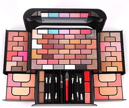 FantasyDay® 7 Piezas Juego de Maquillaje Cassette Schmink Set Maquillaje de Belleza Paleta de Sombras Estuche de maquillaje Profesional Cosmético de Caja Belleza Juego de Regalos de Navidad#1: Amazon.es: Belleza