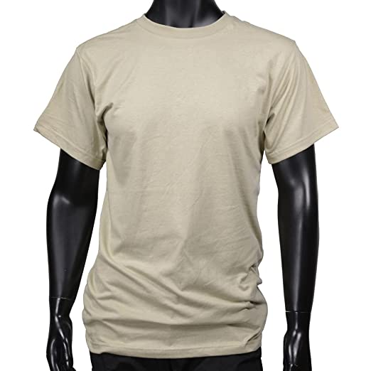 Amazon.com  100% Cotton Desert Sand T-shirt  Military Apparel Shirts ... e0265eb9d03
