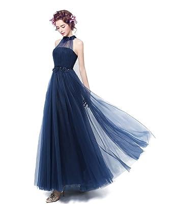 カラードレス 青 ロングドレス パーティードレス 演奏会 イブニングドレス 二次会 花嫁ドレス フォーマルドレス