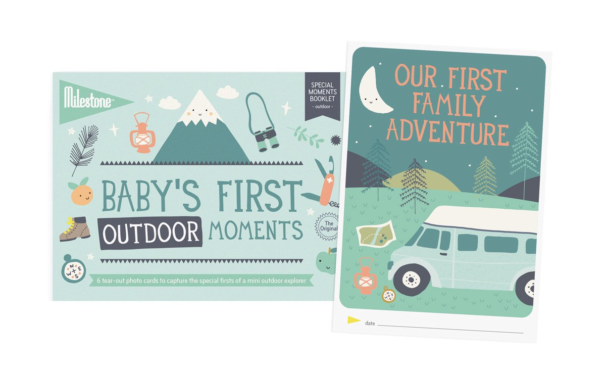 Milestone - Baby's First Outdoor Moments Photo Card Booklet - Tear out booklet of 6 Photo Cards to Capture Your Baby's First Memorable Outdoor Moments MSMCOUTDOOR