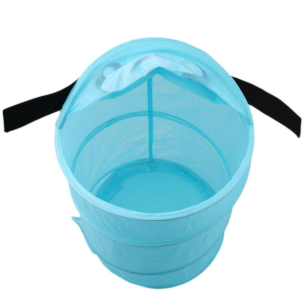 Meolin Cute Animal Design Storage Folding Storage Bucket Laundry Basket Toy Box,D34 dog,D?12in21in