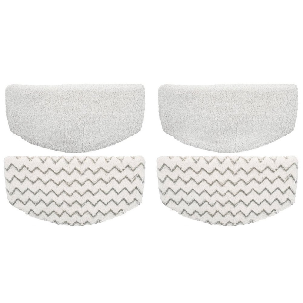 ECOMAID 4 Pcs Replacement Bissell Powerfresh Pads for Bissell Powerfresh Hard Floor Steam Cleaner 1940 1440 1806 Series Steam Mop Compare to Part # 5938 & 203-2633 by ECOMAID