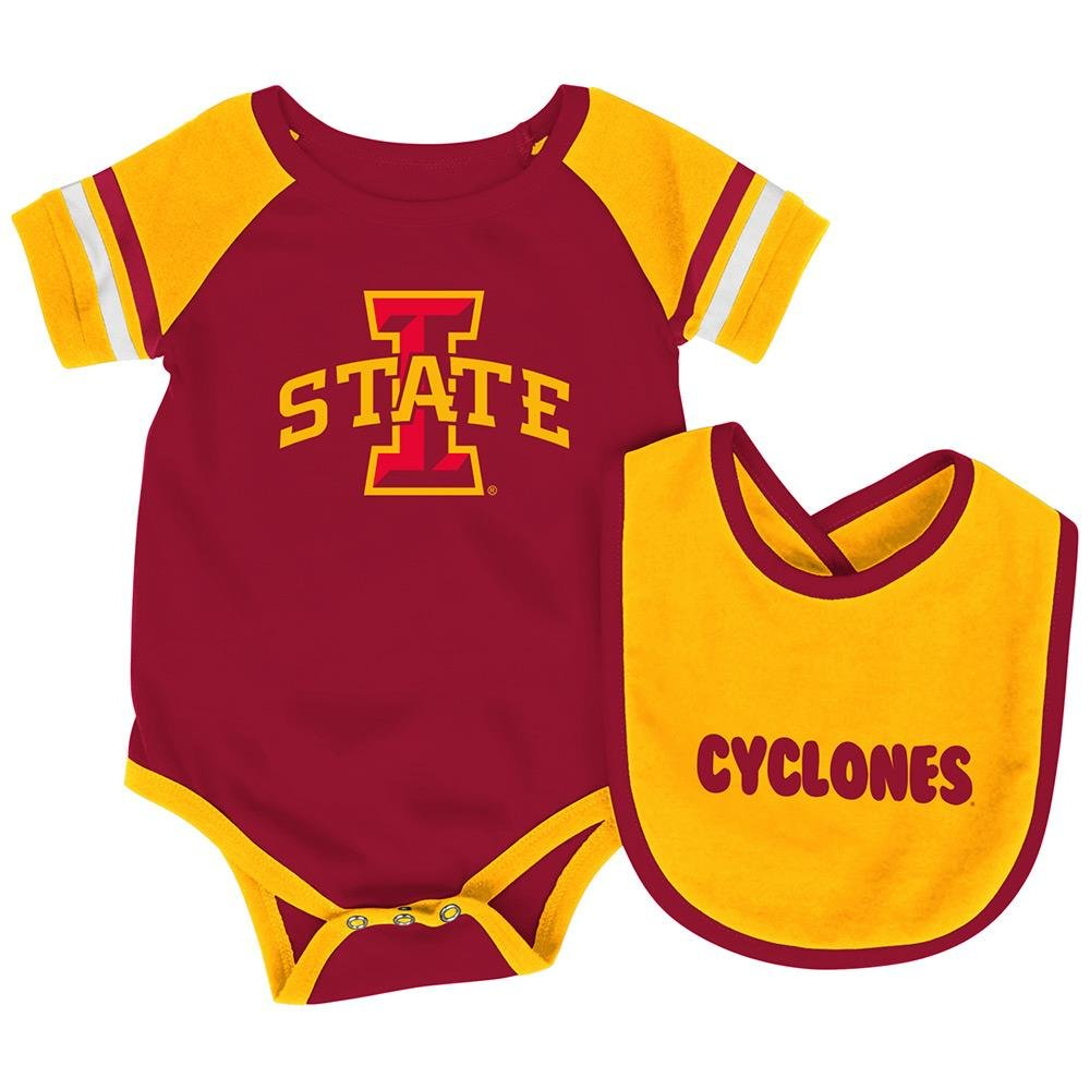 meet 69121 00dfb Amazon.com   Infant NCAA Iowa State Cyclones Roll-out Bodysuit and Bib Set  - 6 to 12 Months   Sports   Outdoors