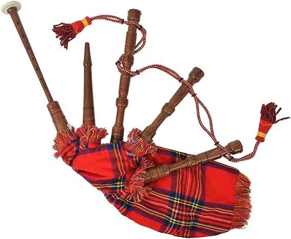 Gaita Profesional Roja de Cuadros Escoceses,para Jóvenes Gaiteros: Amazon.es: Instrumentos musicales
