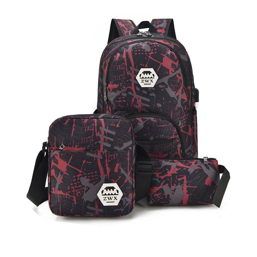 TTD graffiti mochila tres conjunto de mochila de la escuela bolsa de