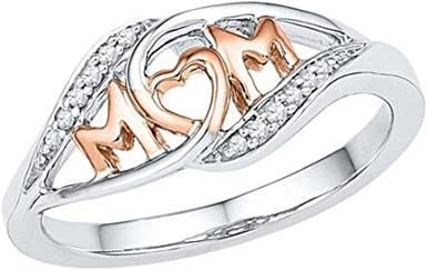 2018 Fashion Vintage Sterling Silver Mom Letter Ring Mother/'s Day Size6-10 Gifts
