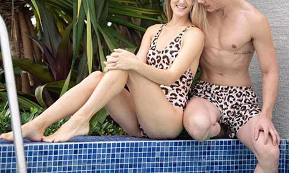 YT Baby Family Swimsuit Leopard Print One Piece Mommy and Me Monokini Backless