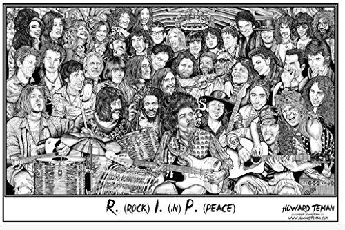 Studio B Howard Teman- (R.I.P.) Rock in Peace Poster by Howard Teman 36 x - Small Poster Peace