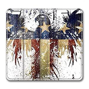 JHFHGVH Leather Case for iPhone 6 Plus Leather, The American Flag Stylish Durable Leather Case for iPhone 6 Plus Leather