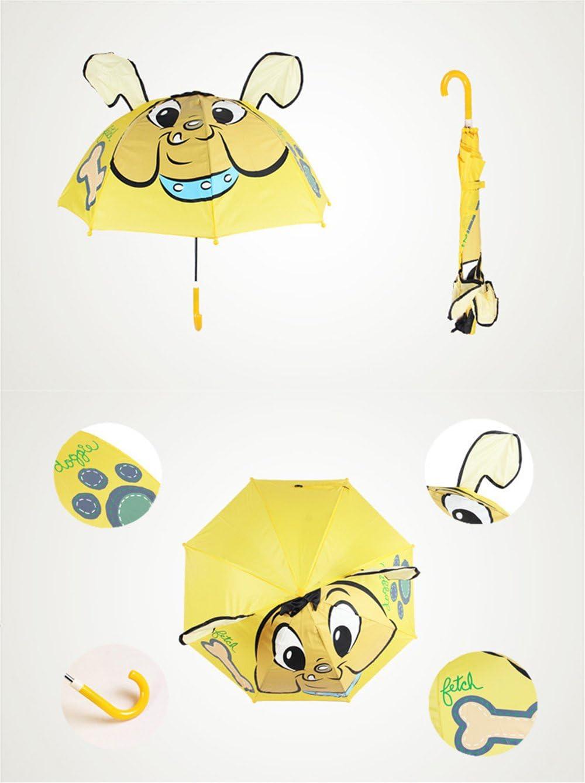 Cute Cartoon Animal Umbrella for Kids Animal Ears Bend Handle
