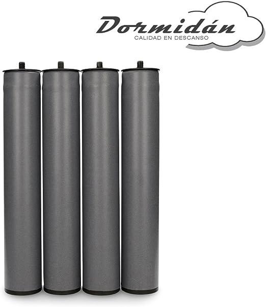 Dormidán - Patas Redondas, (4 Unidades) métrica 10 para somier o Base tapizada (30 cm): Amazon.es: Hogar