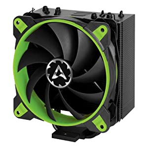 Arctic Freezer 33 eSports ONE - Tower CPU Cooler with 120 mm PWM Processor Fan for Intel and AMD Sockets - for CPUs up to 200 Watts TDP - Silent and Efficient (Green)