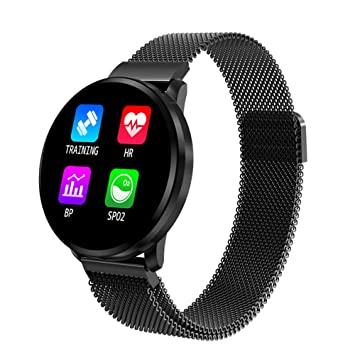 DLIBIG Bluetooth Smartwatch Pulsera Actividad Touch Screen Fitness ...