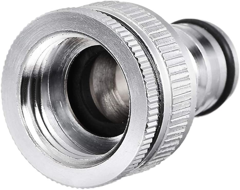 uxcell 2-in-1 Garden Hose Quick Connect 1/2 & 3/4 inch Nickel-Plated Water Hose Fitting Connectors