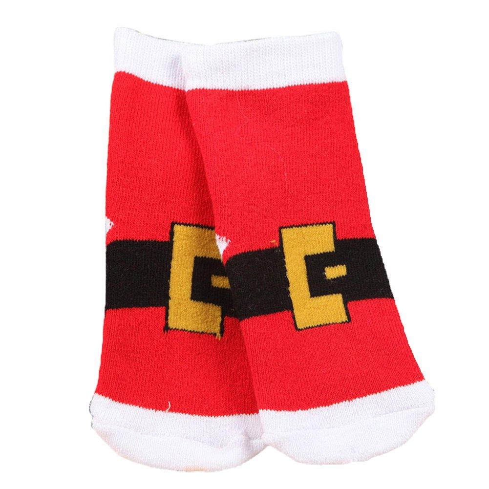stivaletti Bear S Tangbasi/® bambini; calze di Natale con fiocco di neve calzini caldi calze elasticizzate per neonati Babbo Natale