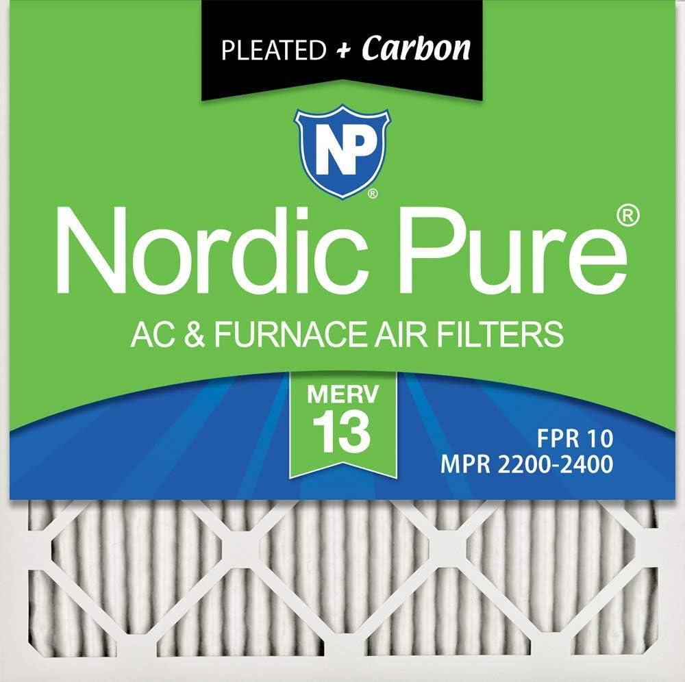 Nordic Pure MERV プリーツ AC 炉エアフィルター (改良済み) 2 PACK 16x16x1M13+C-2-cr 2