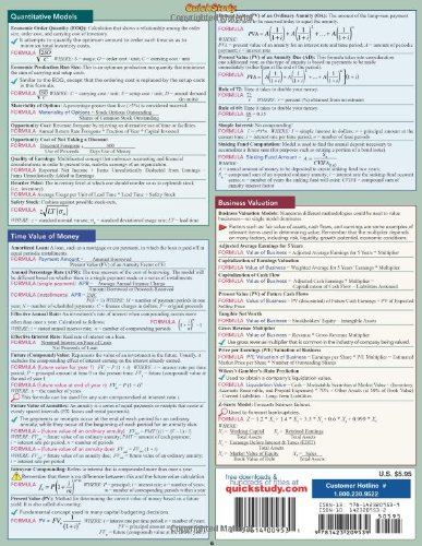 finance equations amp answers quickstudy academic